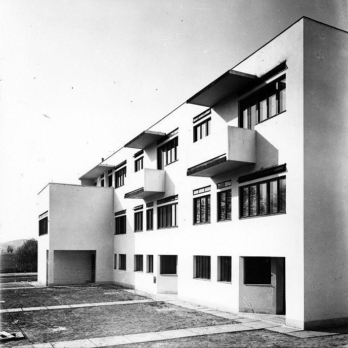 Terraced houses in the New House Estate (Kolonie Nový dům), Bohuslav Fuchs, Brno, Czechoslovakia 1928