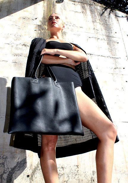 Leather tote bag - Weekend by Project Fifteen