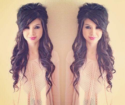 half updo long hair