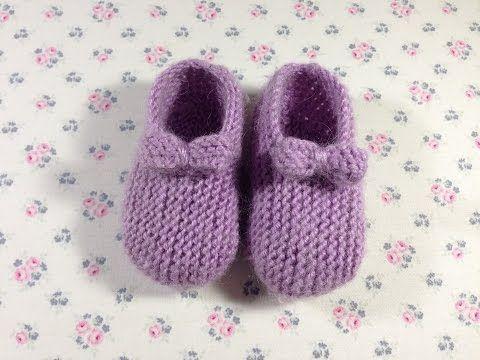 Пинетки для маленькой девочки от 0-3 и 3-6 месяцев. МАСТЕР КЛАСС. ВЯЗАНИЕ - YouTube