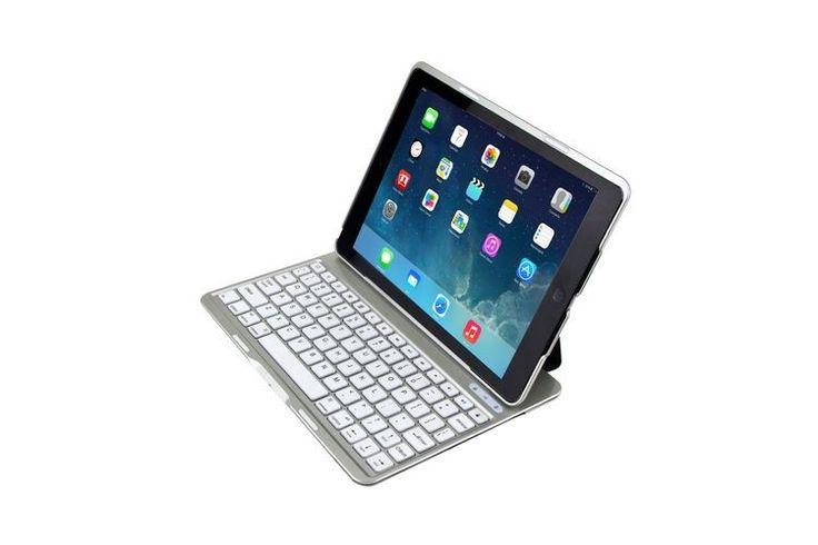 iPad Air toetsenbord hoes keyboard case met backlight Air KEE Wit