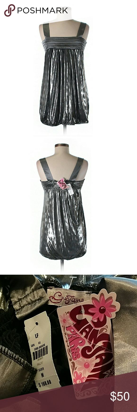 """Metallic Gunmetal Gray Cocktail Dress NWT. 28"""" chest, 23"""" long. All pictures are of the actual item that you will receive. Smoke-free home. LF Dresses Midi"""