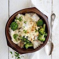 Broccolischotel met koolvis