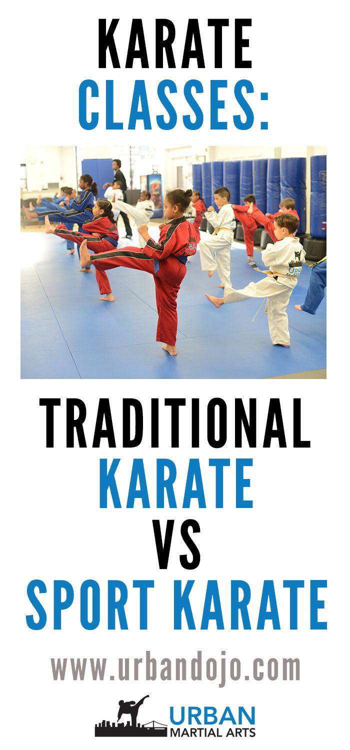Are you searching for karate classes for your child? There are traditional karate schools and sport karate schools. This article explains the differences.