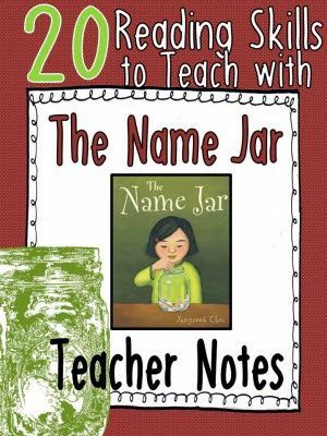 20 Reading Skills to Teach with The Name Jar - Shawna Devoe shares her notes about how to use this book as a mentor text for 20 different reading strategies!