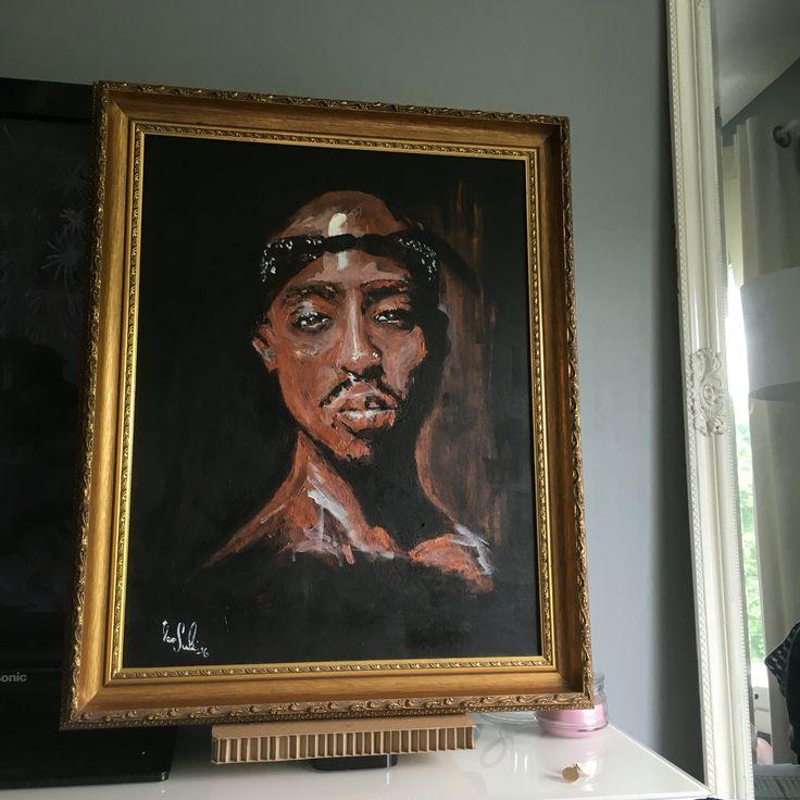 Vesa Suksi Tupac Shakur Painting  Maalaus