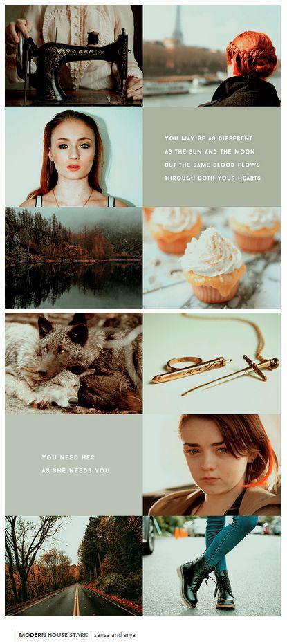 Sansa and Arya Stark - Modern AU.
