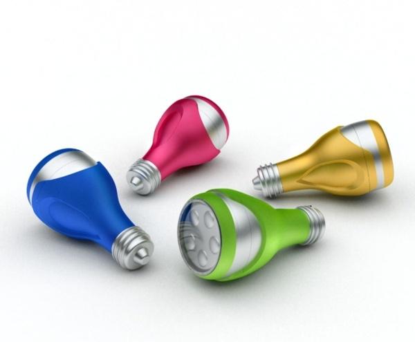 LED bulbs by Irina Alexandru/ AIRA design studio , via Behance