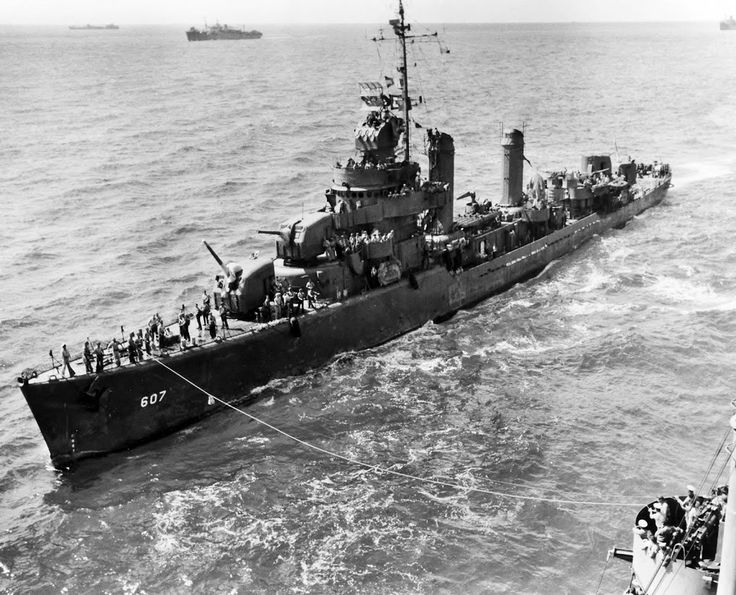 USS Frazier (DD-607) was a Benson-class destroyer in the United States Navy during World War II. She was named for Daniel Frazier, a US Navy sailor who served in the First Barbary War. Frazier was launched 17 March 1942 by Bethlehem Steel Corporation, San Francisco, California; sponsored by Mrs. Richard McCullough; and commissioned July 30, 1942, Lieutenant Commander Frank Virden in command.