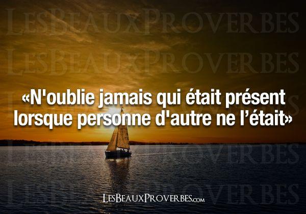 Les Beaux Proverbes – Proverbes, citations et pensées positives » » N'oublie jamais