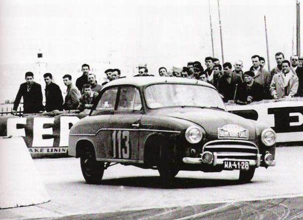 Syrena nr 113 w rajdzie Monte Carlo w roku 1961