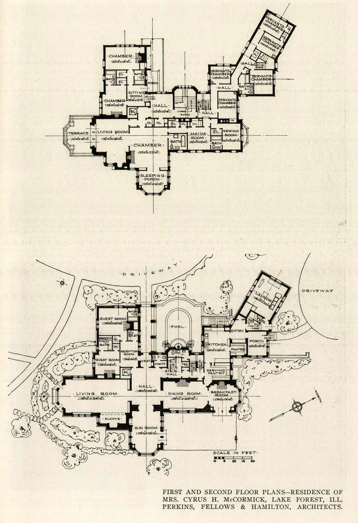 the floor plan of the mccormick residence lake forest old the floor plan of the mccormick residence lake forest old architecture pinterest