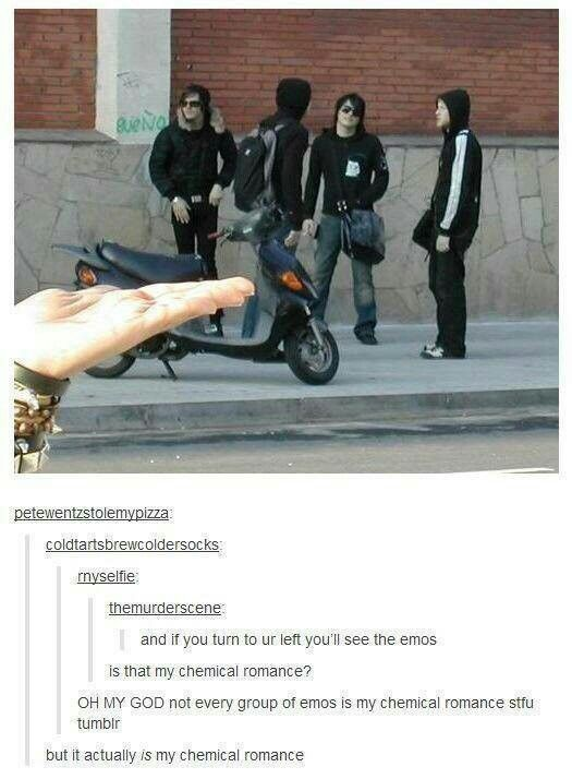 How the hell do you just stumble across MCR? Like WHAT?