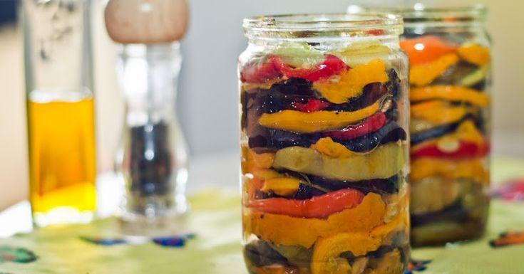 Заготовки на зиму. Овощи гриль в оливковом масле:Рецепты вегетарианские. Пошаговые рецепты с фото.