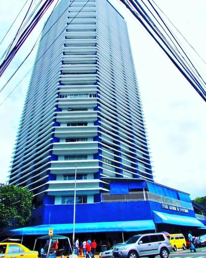 La Torre o Edificio principal de la Loteria de Panama fue en su momento el edificio mas alto de la Ciudad de Panama