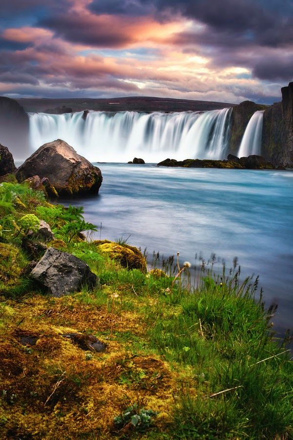 Godafoss Waterfalls, Iceland