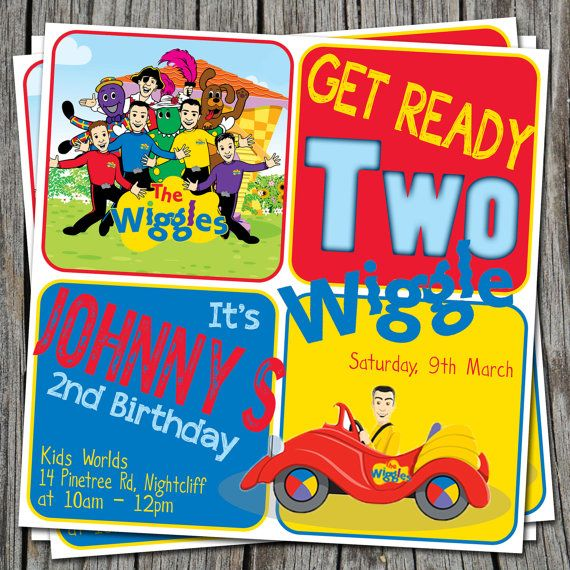 WIGGLES Birthday Invitation Modern by EmbellisheDesigns on Etsy, $10.00