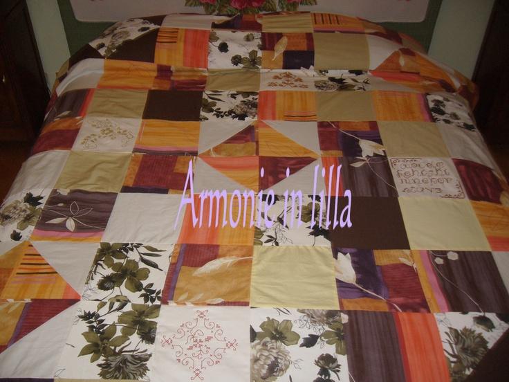 Copriletto in patchwork Patchwork bedspread