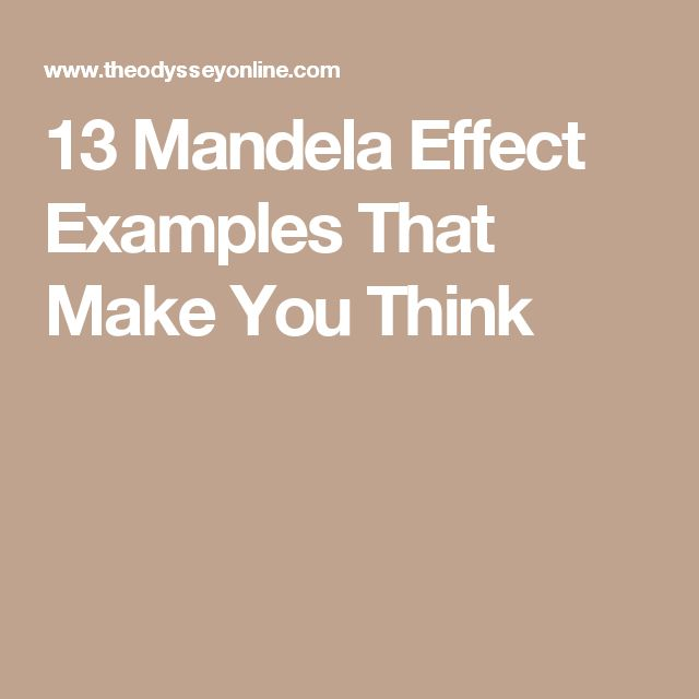 13 Mandela Effect Examples That Make You Think