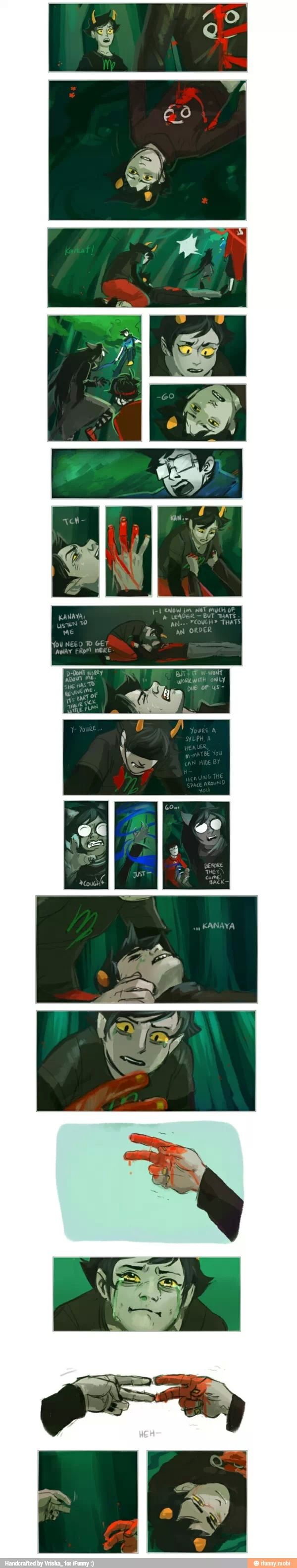 AAAAAAAAAAAAAA! Why, i know that he gets resurrected by Jane but its so frigging sad. especially because i'm a Virgo and my favorite character is Karkart. Also my friend is a Cancer. Why feels just why ;n; I'm just going to go cry my heart out now.  *Edit : Sorry if I spoiled anything for you guys. If I did I'm very sorry please don't hate me.*