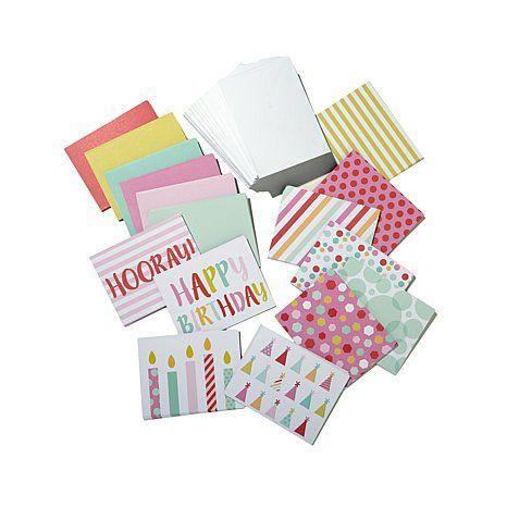 Diamond Press Blank Cards & Envelopes - Birthday/Hooray - HSN 457-421