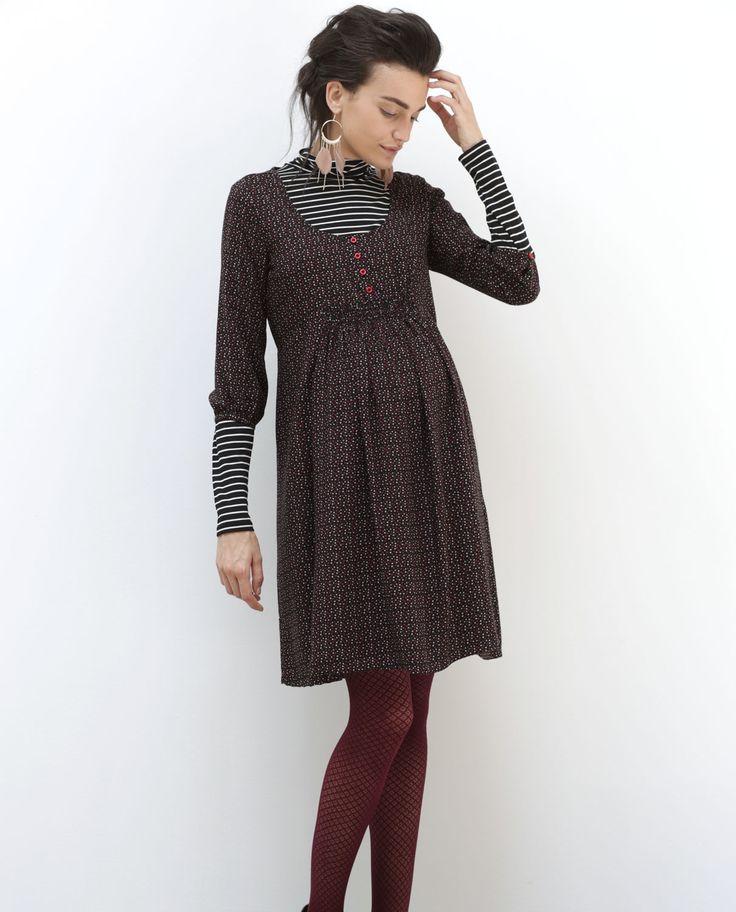 vestido para embarazada de viscosa en color rub estampado modapremama premama ropapremama