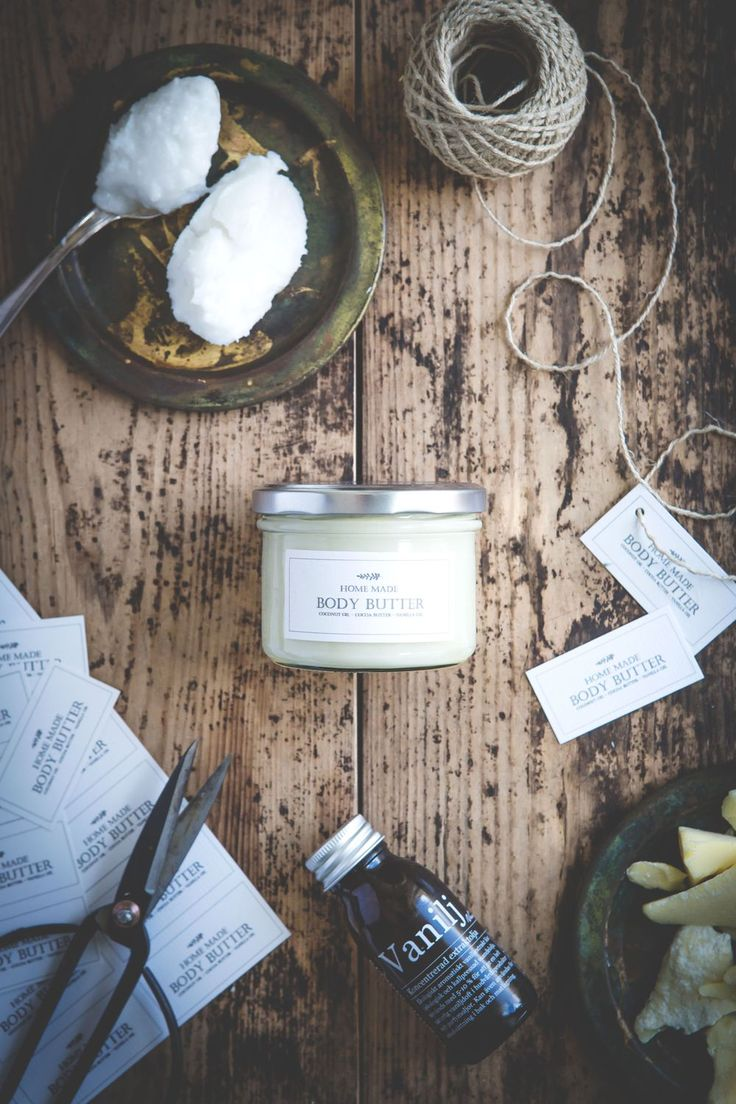 made by mary - food photography & sweet treats (Hur man gör egen hemmagjord Body Butter :: How to make Home Made Body Butter)