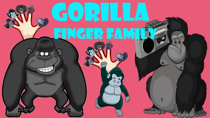 King Kong Gorilla finger family nursery kids song King kong children song