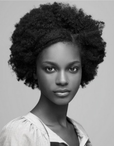 medium afro hairstyle