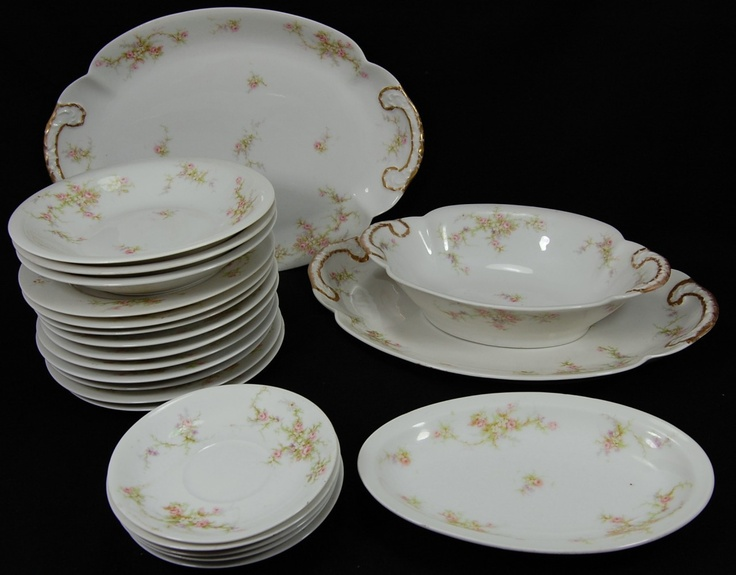 Lot 22 Limoges Porcelain Theo Haviland  Pink Spray  | eBay & 65 best Limoges patterns... images on Pinterest | Tea time Antique ...