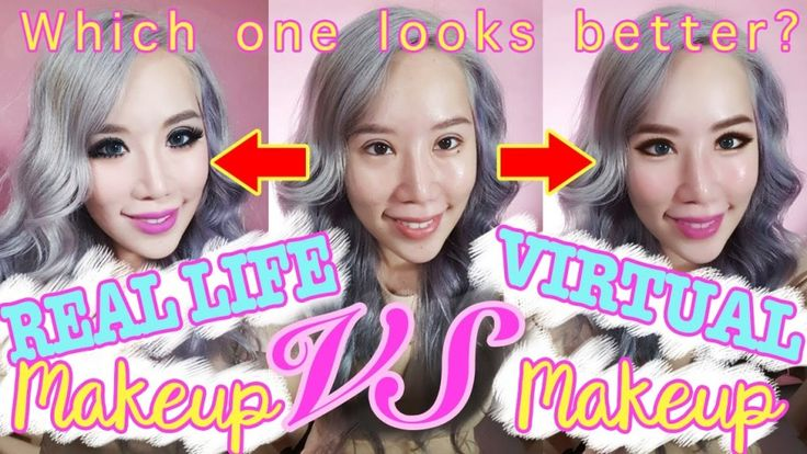 Virtual Makeup VS Reality Makeup!!!! WHICH LOOKS BETTER?? – Makeup Project