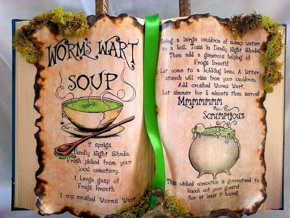 Nightmare B4 Christmas Sally recipe worms wart soup spell book halloween prop