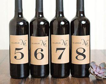 Etichette numeriche di bottiglia di vino da tavolo Laurel