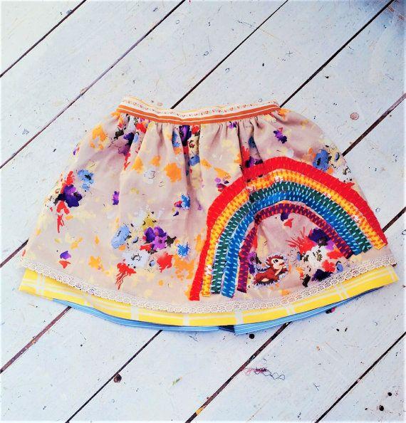 Rainbow Skirt, Girls Skirt, Colorful Girls Skirt, Colorful Skirt, Girls Rainbow Skirt, Girls Skirt size 4, Skirt size 3, Cool SkirtRainbow Skirt Girls Skirt Colorful Girls Skirt by MevrouwHartman https://www.etsy.com/shop/MevrouwHartman http://www.mevrouwhartman.nl