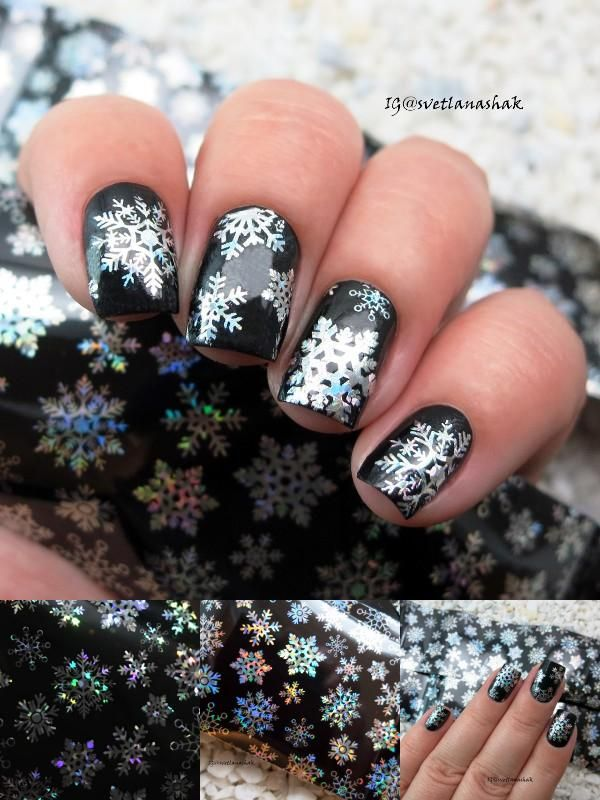 [Visit to Buy] Christmas Snowflake Holographic Nail Foils Nail Art Transfer Sticker Paper BW3592 #Advertisement