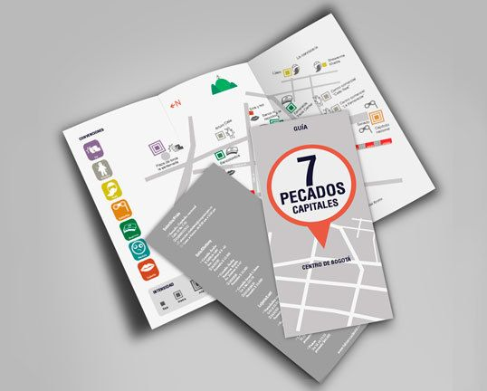 """7 pecados capitales"" (Bogotá) on Behance #map #sevendeadlysins"