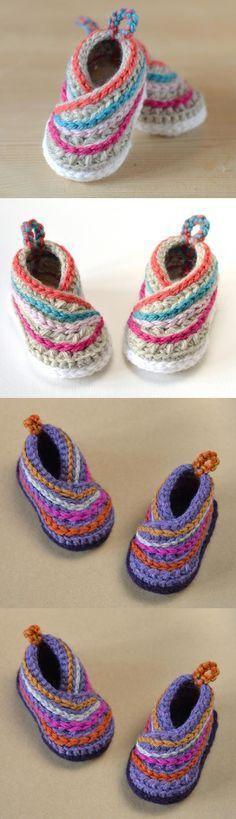 Baby Kimono Shoes Crochet Pattern