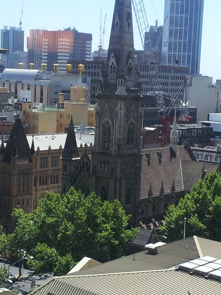 St Michaels church, View from the Grand Hyatt, Melbourne CBD. Great photo taken by a hotel patron!