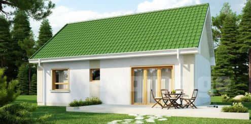 50 Square Meter House Plus 50 Square Meters Of Yard In A