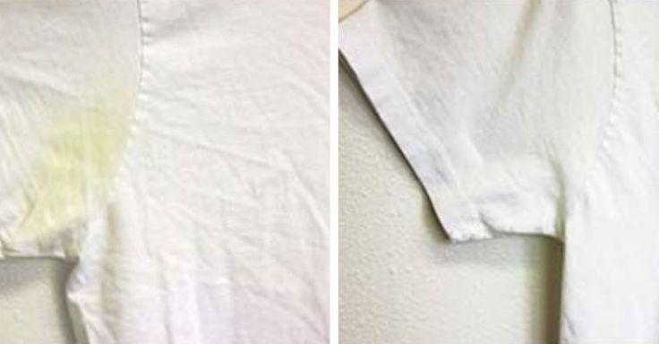 Как убрать пятна пота с белой рубашки фото