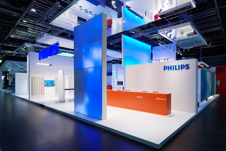 Exhibition Stand Lighting Xl : Philips lighting stand by totems dusseldorf germany
