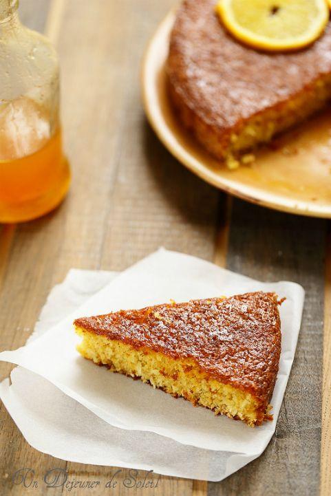 Gâteau italien à l'orange et polenta (sans gluten et sans beurre) - Looks delish!