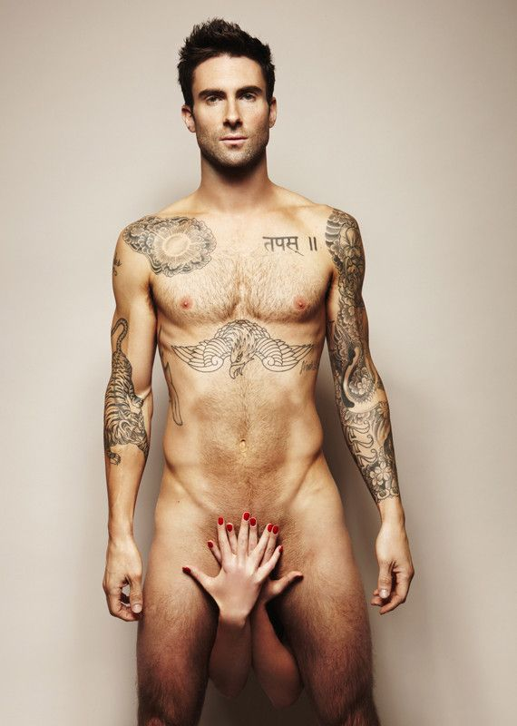 Adam Levine; I think her hand is in the way...