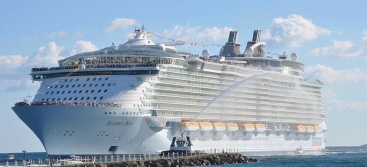 Will the Biggest Cruise Ship Ever Built Change Cruising Forever? (45 Pictures): http://www.placesyoullsee.com/45-stunning-photos-from-the-largest-cruise-ship-ever/