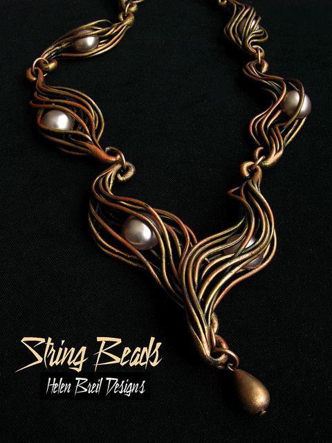 Free on-line Tutorial: String Beads by Helen Breil, via Flickr-Love it