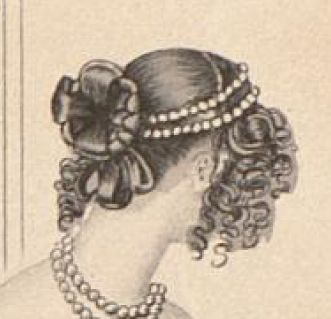 1837 Abendfrisur