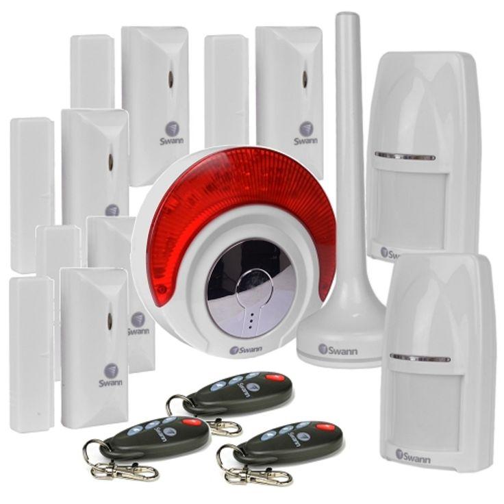 Swann SRHOM-ALARMC Home Wireless Alarm System w/Wireless Indoor Siren & Window/Door Sensors (White)