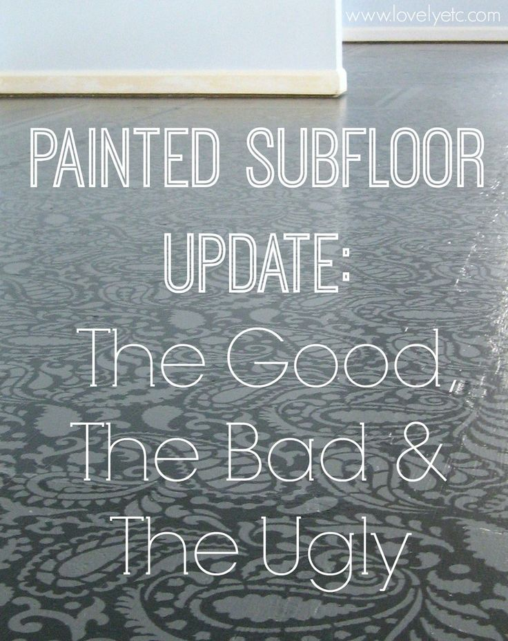 Painted Plywood Floor Update: The Good, The Bad, and The Ugly - Lovely Etc.