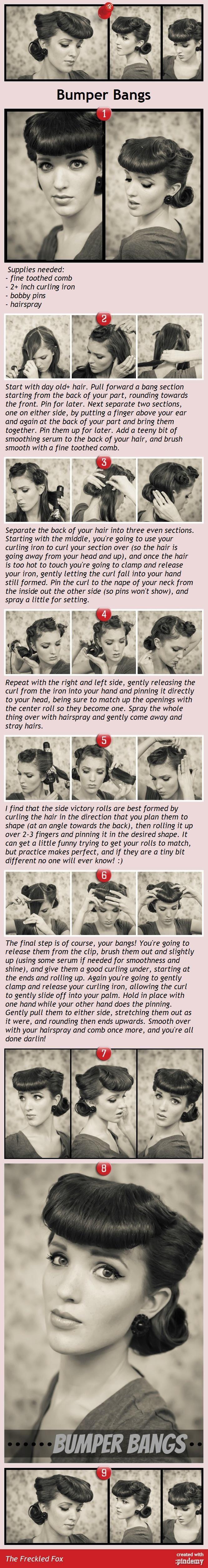 Beauty Tip: DIY Hair / Bumper Bangs tutorial - Fereckels