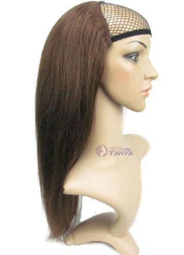 Details about 3/4 Half Wig 100% Indian Remy Human …